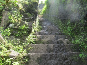 Steps leading to the main bastion of the fort
